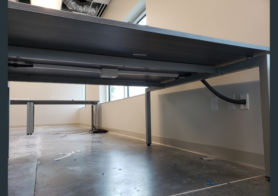 under table data cabling mounting
